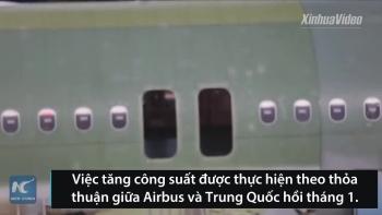 Dây chuyền lắp ráp máy bay Airbus A320 ở Trung Quốc